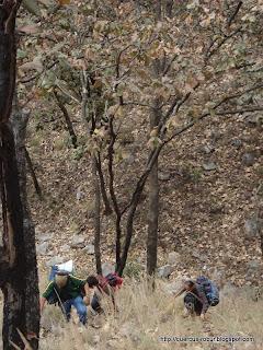 Subiendo el Cerro los Bailadores