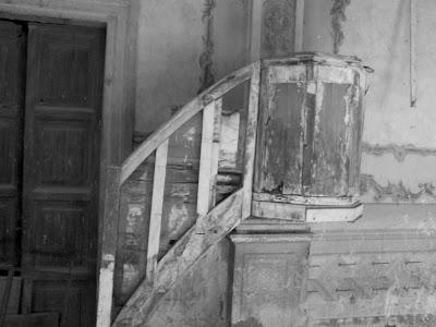 Aquí se hacía la homilía en la capilla de la Hacienda
