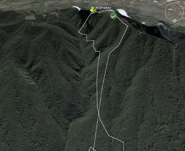 Ruta aproximada del ascenso y descenso al Cerro Viejo