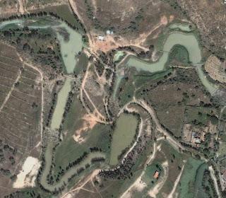 Vista de los lagos del balneario Milpillas