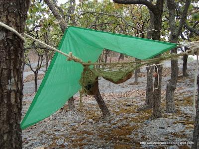 Refugio aéreo con protección de viento en la Sierra de Cuisillos