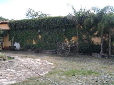 Vista parcial del patio principal de la ex hacienda la Quemada