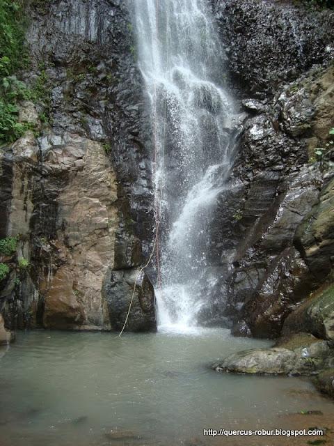 Parte baja de la cascada de 45 m en los Azules - Tequila