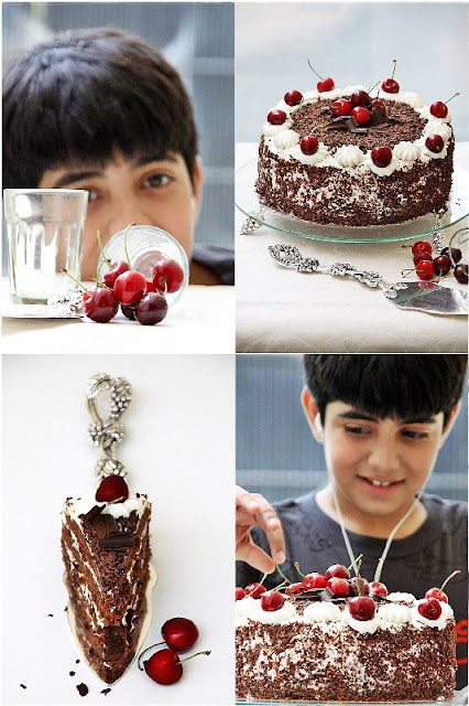 rohan+1+collage {Baking} SWISS BLACK FOREST CAKE ... whipping up low fat cream into submission!