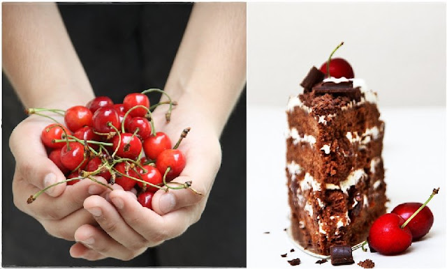 1 {Baking} SWISS BLACK FOREST CAKE ... whipping up low fat cream into submission!