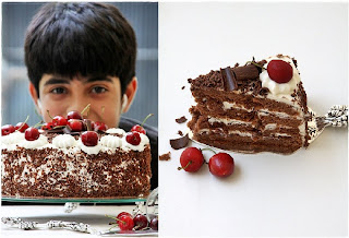 8 {Baking} SWISS BLACK FOREST CAKE ... whipping up low fat cream into submission!