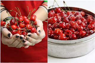 cherries {Baking} SWISS BLACK FOREST CAKE ... whipping up low fat cream into submission!