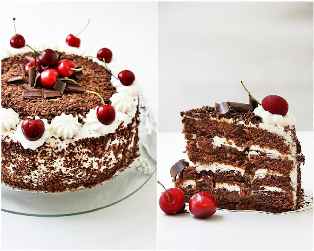 4 {Baking} SWISS BLACK FOREST CAKE ... whipping up low fat cream into submission!