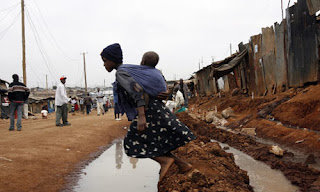 Photo of a girl in Kibera, from The Guardian