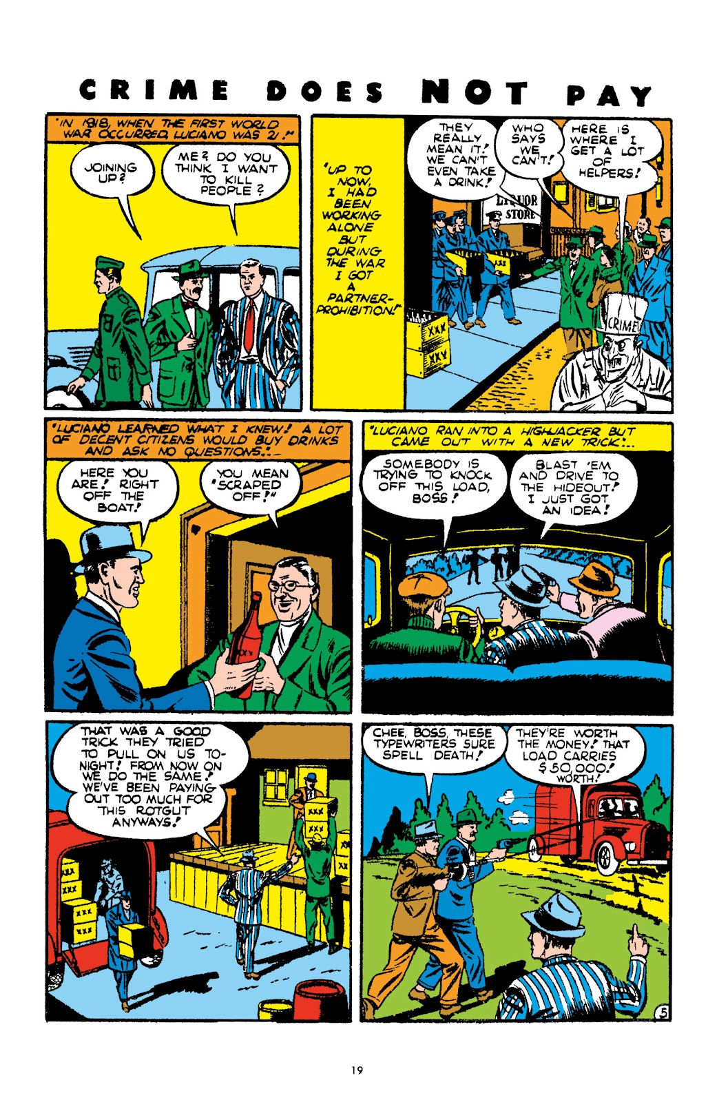 Read online Crime Does Not Pay Archives comic -  Issue # TPB 2 (Part 1) - 19