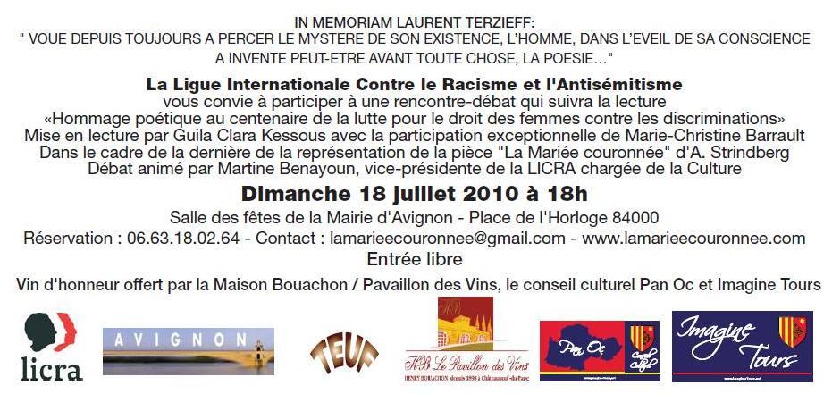festival avignon invitation