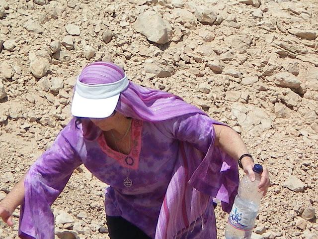 ChristinA Ritchie climbing Thoth Hill