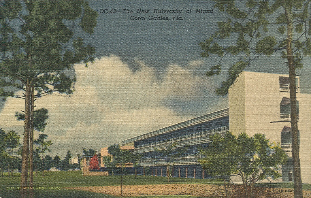 Vintage travel postcards coral gables florida - Doctors medical center miami gardens ...