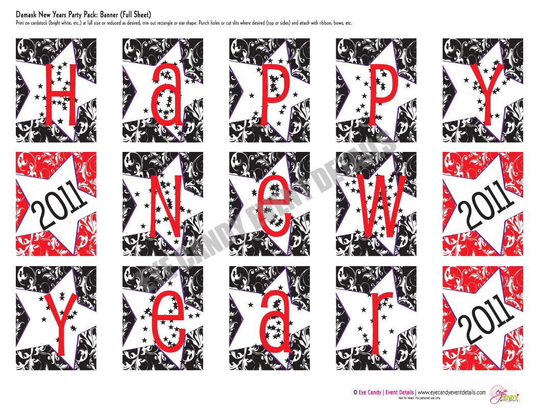 photo regarding Happy New Years Banner Printable named December 2010 - Eye Sweet Inventive Studio