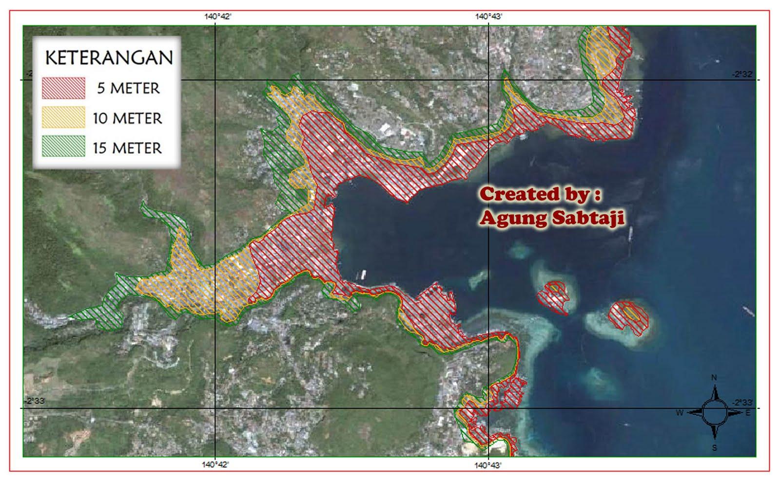 Gambar Peta Jayapura Peta Indonesia Agung Sabtaji Jayapura Jika Terkena Tsunami
