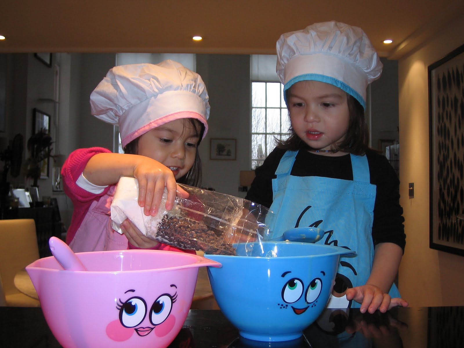 Monsters And Munchkins Baking Chocolate Chip Cookies With