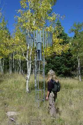 Precipitation gauge, San Isabel National Forest, photo by Chas S. Clifton