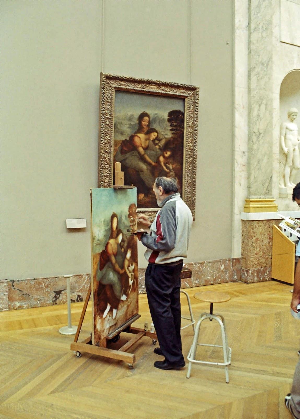 Stock Pictures Painter At The Louvre Paris