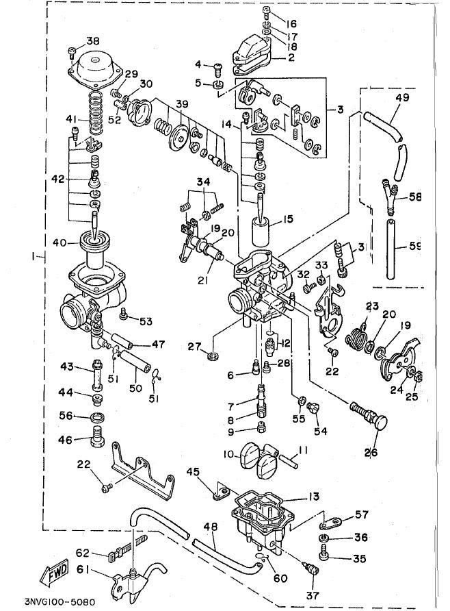 yamaha warrior 350 Diagrama del motor