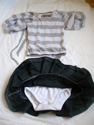 I förrgår kväll rensade jag garderoben på lite kläder och hittade en  gråvitrandig top jag nästan aldrig använt och nu var den dessutom för  liten. Så jag ... 6f6ac1ecb111a