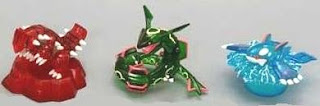 Pokemon Figure Clear Version Kyogre Croudon Rayquaza Tomy