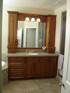 upper bathroom cabinets degroff custom woodworking payne home 27746
