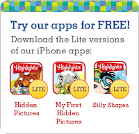 Free Kids iPhone App Downloads from Highlights - Honey + Lime