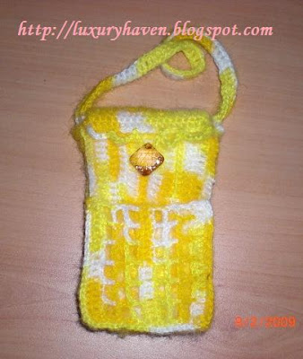 diy handphone pouch, mobile phone case, crochet tips