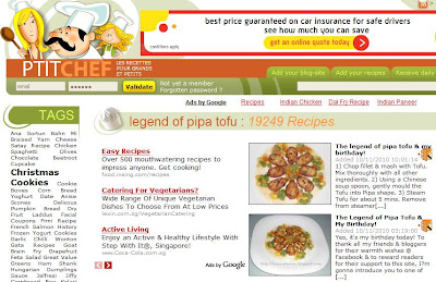 petitchef features pipa tofu recipe