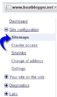 Submit Sitemap Blogger ke Webmaster Tools