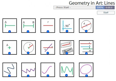 Chiew's CLIL EFL ESL Blog: Geometry in Art - Lines