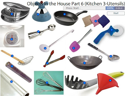 Chiew CLIL EFL ESL ELL TEFL Games Resources Activities: House Objects