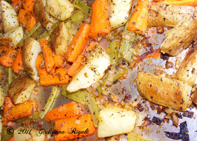 Italian Roasted Veges - hot out of the oven!