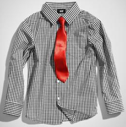 camisa corbata niño