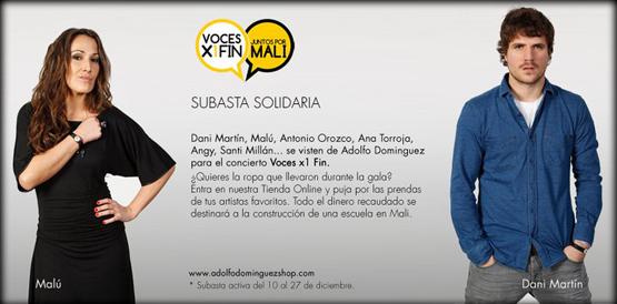 Adolfo Domínguez con Voces X1Fin juntos por Mali