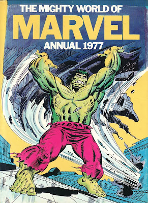 Mighty World of Marvel Annual 1977, cover