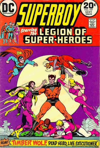 Superboy and the Legion of Super-Heroes, Timber Wolf, cover