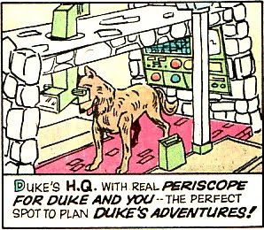 Weird War Tales #32, Duke the rescue dog