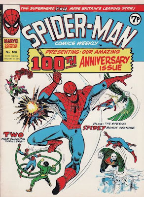 Marvel UK, Spider-Man Comics Weekly #100 cover, John Romita