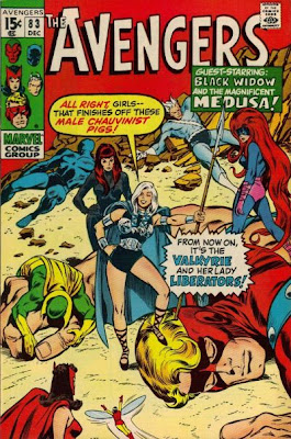 Avengers #83, the Valkyrie makes her first ever appearance, John Buscema, the Lady Liberators and the New Masters of Evil