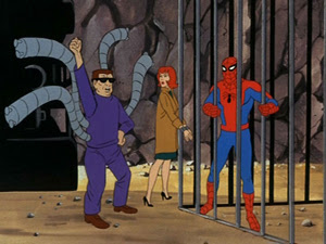The 1960s' Amazing Spider-Man cartoon, trapped by Dr Octopus