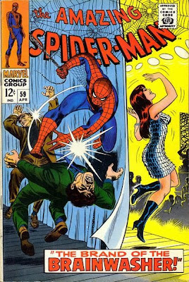 Amazing Spider-Man #59, Mary Jane dances - her first ever appearance on the cover
