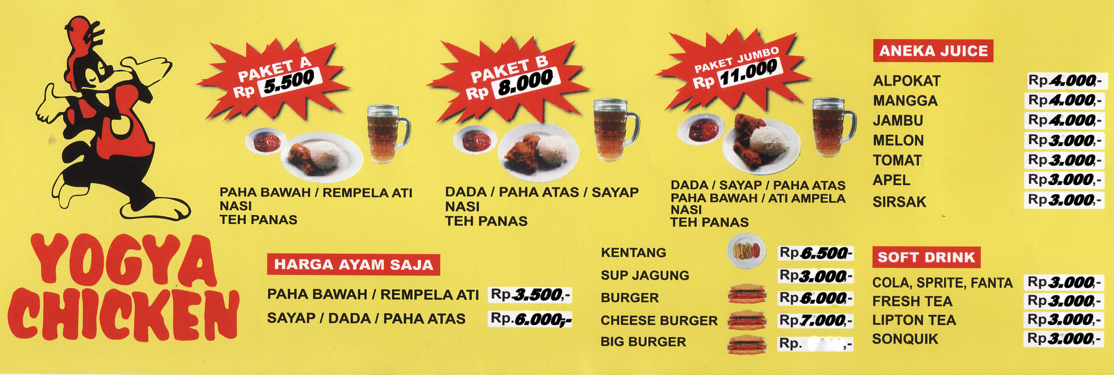 rekomendasi fast food yogya chicken