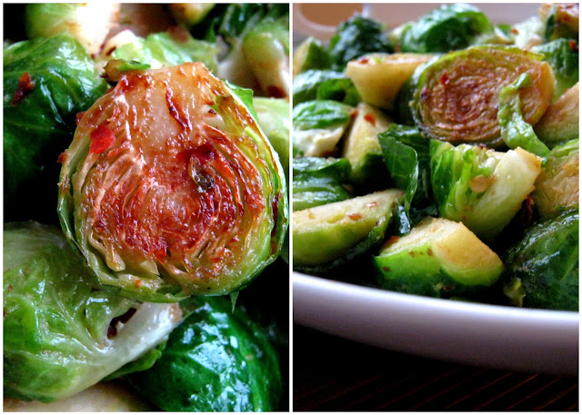 Spicy Garlicky Brussels Sprouts Alica S Pepperpot