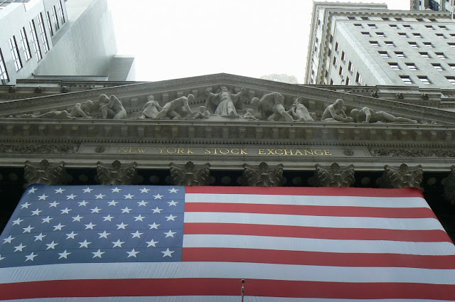 Wall street stars and stripes