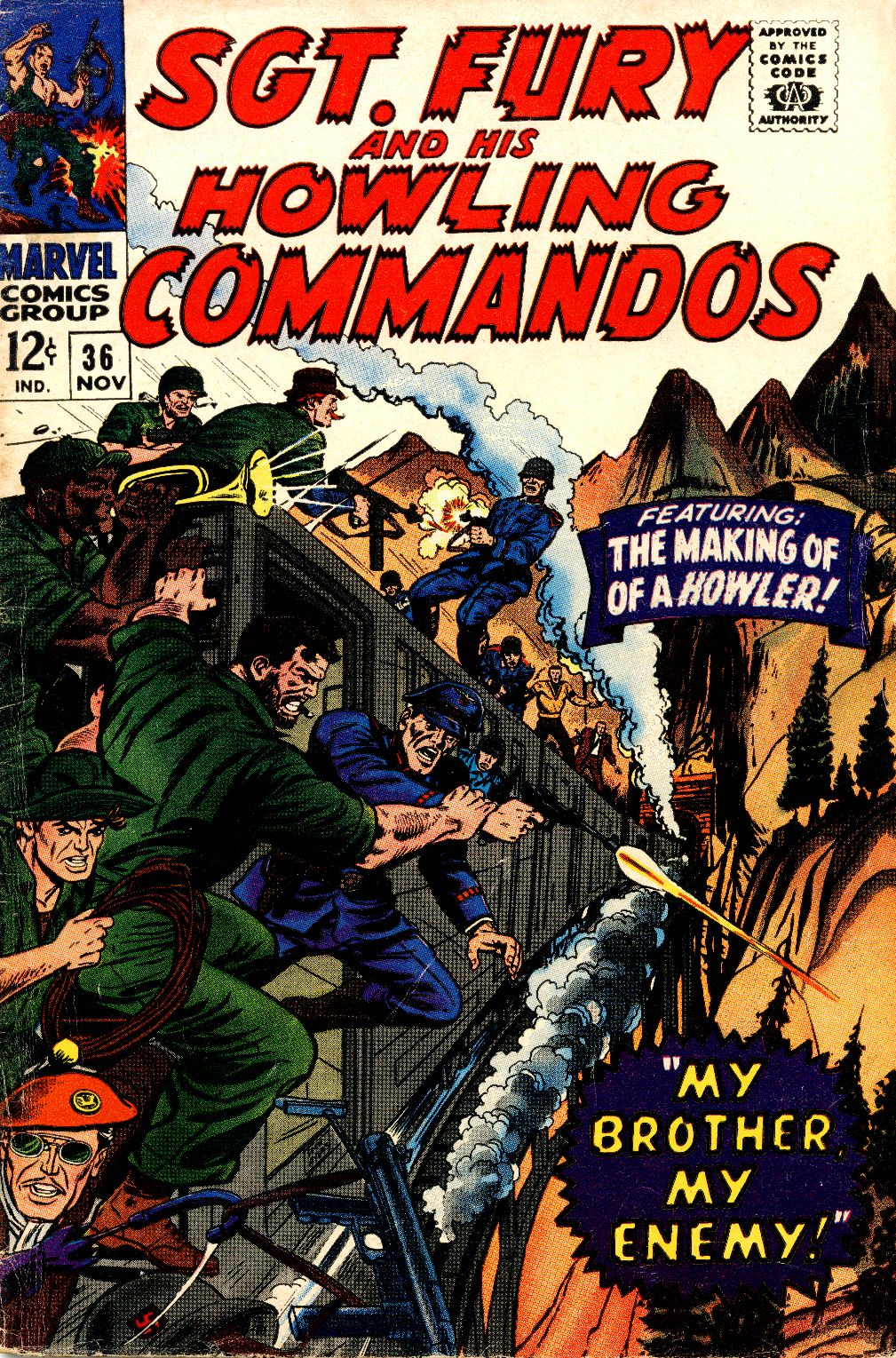 Read online Sgt. Fury comic -  Issue #36 - 1