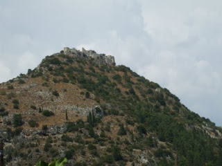 Mystras castle from below