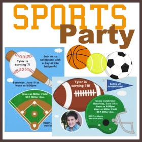 Eventful Cards Sports Birthday Party Invitations