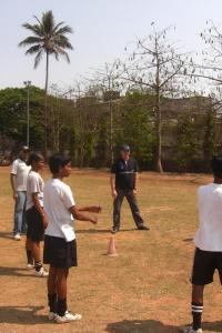 Laureus Academy Member Steve Waugh takes a ride on the Magic Bus in Mumbai