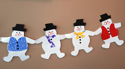 snowman paper chain template - that artist woman how to make holiday paper chains